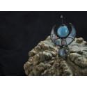 Брошь Звездолёт предков голубой