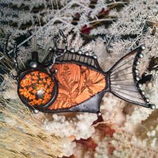 Брошь Рыба-Олень осенняя