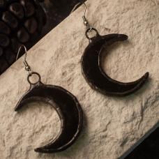 Серьги Луны черные