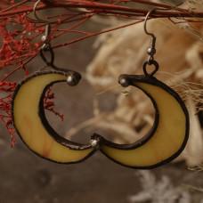 Серьги Луны желтые