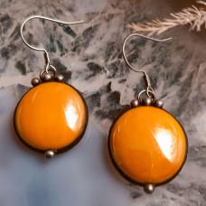 Серьги Соль желто-оранжевые