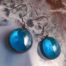 Серьги Соль голубые прозрачные