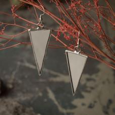 Серьги Треугольники зеркальные