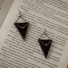 Серьги Треугольники черные