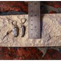 Серьги с барочным жемчугом минималистичные