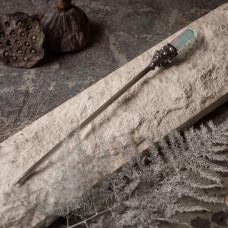 Палочка для волос с сине-розовым горным хрусталем