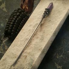 Палочка для волос с аметистом