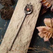 Палочка для волос с авторским дихроическим кабошоном
