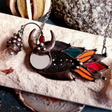 Подвеска Рыба-удильщик с разноцветным хвостом