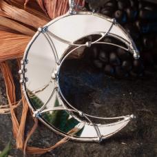 Лунница Зеркальный полумесяц засеребренный