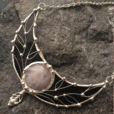 Лунница с розовым кварцем